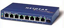 Eight port Netgear