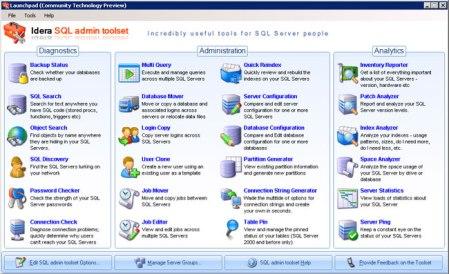 SQL admin toolset 1.0