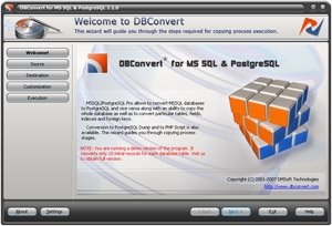 DB Convert for MS SQL & PostgreSQL