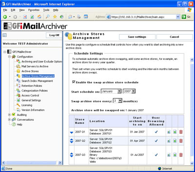 GFI MailArchiver for Exchange