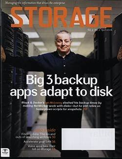 Big 3 backup apps adapt to disk