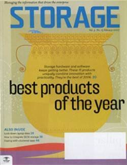 Top 15 Storage hardware and software Products of the Year 2006