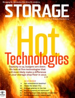 Hot storage trends and technology for 2010
