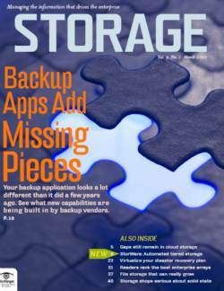 Top features in data backup applications