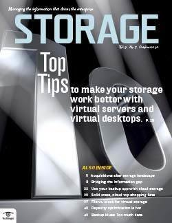 Integrating virtual servers and desktops with storage