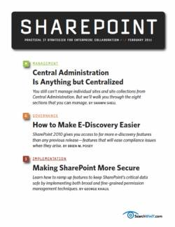 SharePoint governance and e-discovery