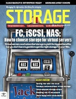 FC, iSCSI, NAS: How to choose storage for virtual servers