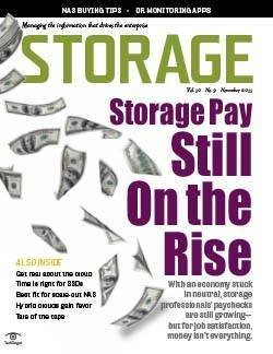 For storage jobs, pay still on the rise