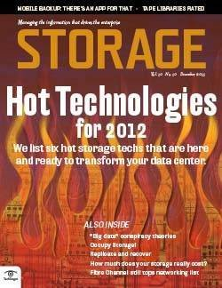 Top data storage technologies of 2012