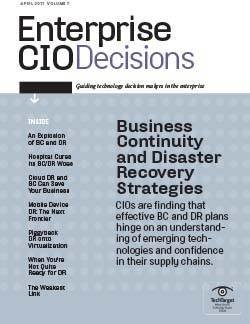 CIOs discover effective business continuity and disaster recovery strategies