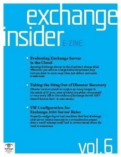 Evaluating Exchange Server in the cloud