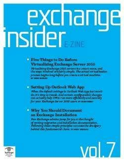 Five things to do before virtualizing Exchange Server 2010