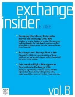 Prepping BlackBerry Enterprise Server for Exchange 2010 SP1