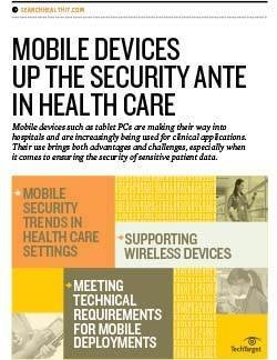 Strategies to secure personal mobile devices on health care networks