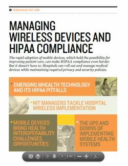 Managing mobile devices and meeting HIPAA compliance