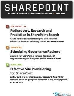 Rediscovery, research and prediction in SharePoint search