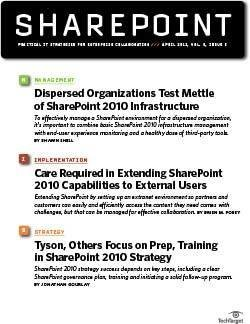 How dispersed organizations benefit from SharePoint 2010 infrastructure planning
