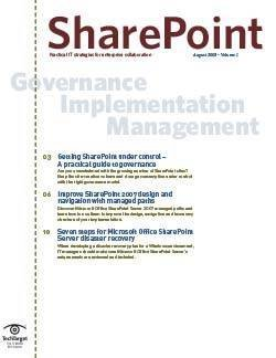 Governance implementation management