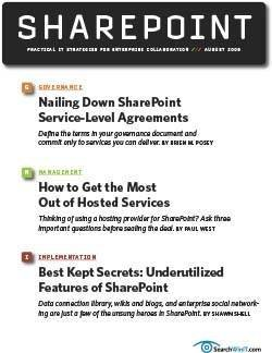 Nailing down SharePoint service-level agreements