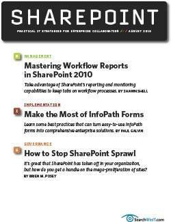 Tips for advanced SharePoint workflow reports
