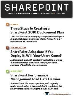 How to plan for a SharePoint 2010 implementation