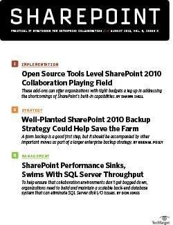 Open source add-ons enhance Sharepoint 2010 collaboration