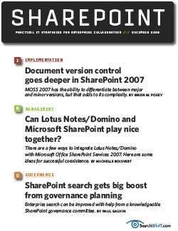 Document version control gets a face-lift in SharePoint 2007