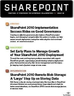 SharePoint 2010 implementation project plan: Keys to success