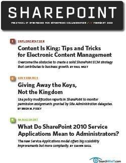 Tips and tricks for electronic content management