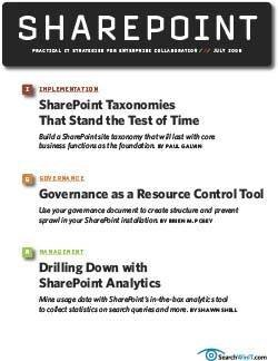 SharePoint taxonomies that stand the test of time