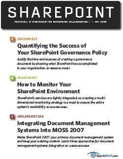Establishing and measuring a successful SharePoint governance policy