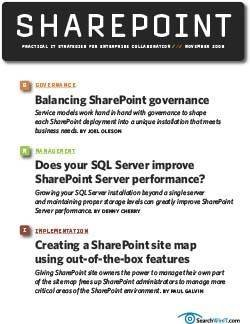 Designing a Sharepoint governance plan