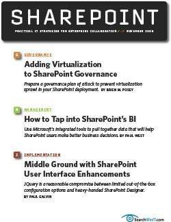 Preventing sprawl with a virtualized Sharepoint deployment
