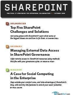 Top five SharePoint challenges and solutions