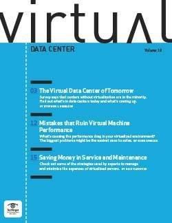 The virtual data center of tomorrow