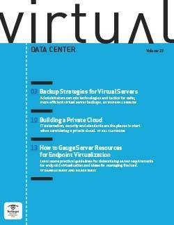 Backup strategies for virtual servers