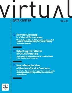 Software licensing in a virtual environment