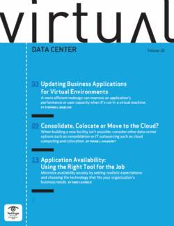 Updating business applications for a virtual environment