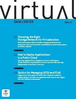 Choosing the best storage network for virtualization
