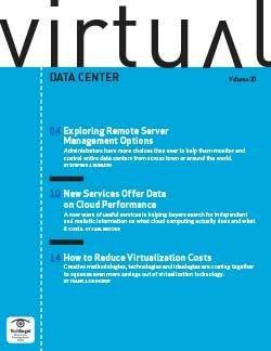 Remote server management options for virtual data centers