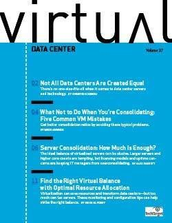 Maximizing virtual data center consolidations