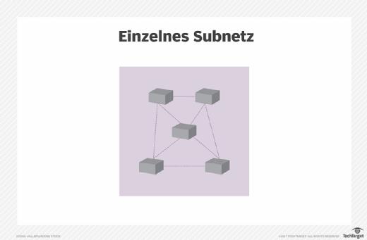 Netzwerkmodell mit einem einzigen Subnetz.