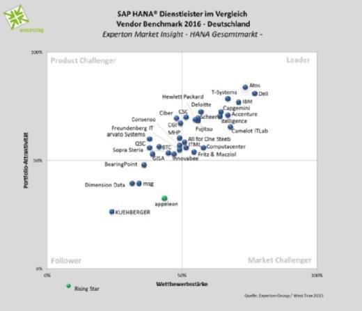 SAP HANA Dienstleister Vendor Benchmark 2016