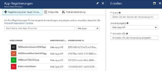 Cloud-Anwendungen können mit Microsoft Azure registriert werden, das gilt vor allem für Dienste aus Microsoft Azure.