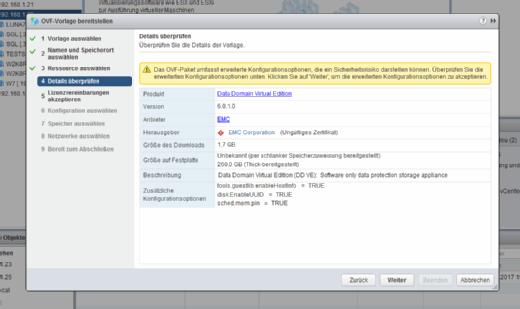 Problematisch: Zunächst einmal hapert die Installation der DD VE an einem ungültigen Zertifikat.