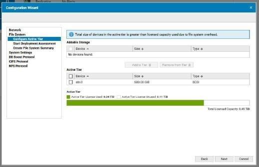 In der kostenfreien Version erlaubt die DD VE eine Zuordnung von einem halben Terabyte ohne Zusatzlizenz.