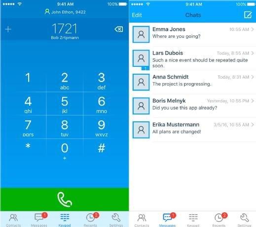 etaPhone App für iOS