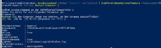 PowerShell Direct in Windows Server 2016 ermöglicht den direkten Zugriff auf Hyper-V-VMs. Auch Serverrollen lassen sich so installieren.