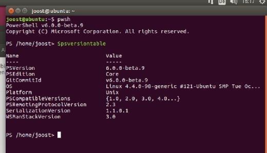 """Nach der Installation steht die PowerShell über ein Linux-Terminal und den Befehl """"pwsh"""" zur Verfügung."""