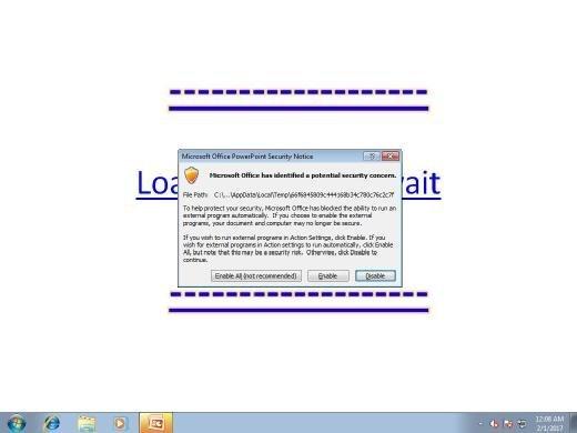 Malware in PowerPoint-Datei nutzt Mouseover-Effekt